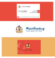 beautiful boat logo and business card vertical vector image vector image