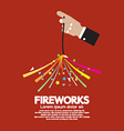 Burning Sparkler Firework In Hand vector image