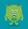 cartoon monster in flat style happy halloween vector image vector image