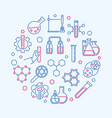 chemical creative round in vector image