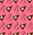 chocolate cake seamless pattern vector image