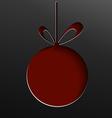 christmas ball cut paper vector image vector image