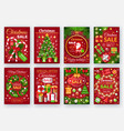 christmas discount cards with decorations vector image