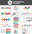 Colorful Infographic elements presentation set vector image