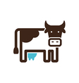 Cow icon Farm animal vector image vector image