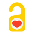 do not disturb with heart flat icon vector image vector image