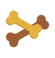 Dog bone animal food meal pet biscuit toy canine vector image