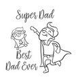 doodle father day style collection vector image vector image