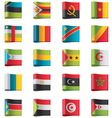 flags - africa vector image vector image