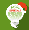 Flat Christmas card with long shadow vector image