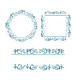 frame decorative ornament 01 vector image vector image