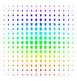 fried chicken icon halftone spectral grid vector image