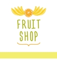 Fruit shop Editable template logo or signage vector image vector image