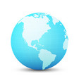globe in blue color vector image vector image