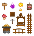 Gold mine assets vector image vector image