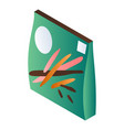 green pack biscuit stick icon isometric style vector image