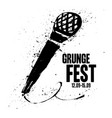 grunge festival flyer poster template print for vector image