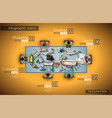 ideal workspace for teamwork infographic and vector image vector image