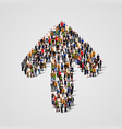 large group of people in the arrow form vector image vector image