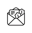 letter icon vector image vector image