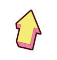 line color creative arrow design grapphic element vector image