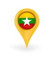 Location Myanmar vector image vector image