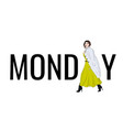 model monday outfit fashion vector image vector image