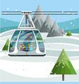 modern cable ski lift in ski resort vector image