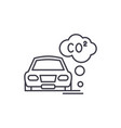 motor vehicle pollution line icon concept motor vector image vector image