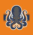octopus logotype vector image vector image