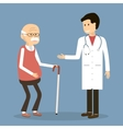 Old Man visit a Doctor vector image vector image