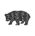panda bear mammal color silhouette animal vector image vector image