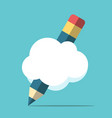 pencil with cloud vector image vector image