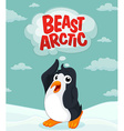 Penguin at the arctic ground vector image vector image