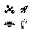physics chemistry astronomy simple related icons vector image vector image
