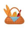 picnic basket vector image vector image