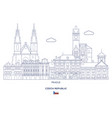 prague city skyline vector image