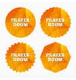 Prayer room sign icon Religion priest symbol vector image vector image
