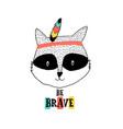 raccoon for t-shirt design vector image