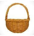 Realistic wicker basket vector image