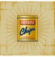 Retro Potato Chips Can vector image vector image