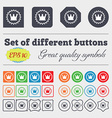 rown icon sign Big set of colorful diverse vector image vector image