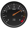 rpm tachometer automotive dashboard gauge vector image vector image