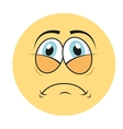 sad cartoon icon vector image vector image