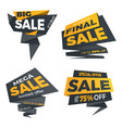 sale black color label price tag banner badge vector image vector image