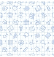 School Seamless Pattern on the Squared Sheet vector image vector image