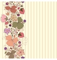seamless doodle border of flowers and berries with vector image