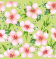 seamless pattern with blossoming apple tree vector image vector image