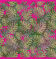 seamless pattern with monstera plant leaves vector image