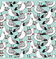 seamless pattern with seagulls vector image vector image